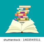 open book with an upside down... | Shutterstock .eps vector #1403545511
