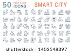 set of vector line icons of... | Shutterstock .eps vector #1403548397