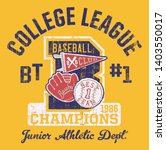 baseball kids college league... | Shutterstock .eps vector #1403550017