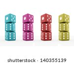 colored dice concept isolated... | Shutterstock . vector #140355139