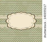 vintage card design with frame... | Shutterstock .eps vector #140355217