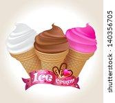 illustration of icecream cones