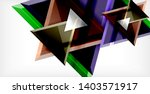 3d triangular vector minimal... | Shutterstock .eps vector #1403571917