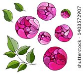 set flowers   pions  botanical...   Shutterstock .eps vector #1403572907