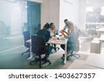 focused group of diverse work... | Shutterstock . vector #1403627357