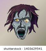 head of a stylized dead man... | Shutterstock .eps vector #1403629541