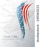 4th july  american independence ... | Shutterstock .eps vector #140363221