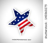 4th july  american independence ... | Shutterstock .eps vector #140363275