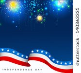 4th july  american independence ... | Shutterstock .eps vector #140363335