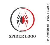 spider logo vector illustration ... | Shutterstock .eps vector #1403641064