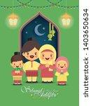hari raya aidilfitri greeting... | Shutterstock .eps vector #1403650634