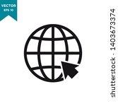 globe vector icon in trendy... | Shutterstock .eps vector #1403673374