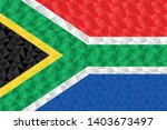 polygonal flag of south africa... | Shutterstock .eps vector #1403673497