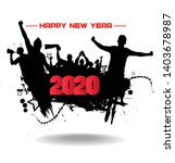 new year 2020. clouds from the...   Shutterstock .eps vector #1403678987