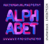 flexible 3d alphabet font.... | Shutterstock .eps vector #1403679224