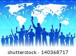 stock market traders teamwork | Shutterstock .eps vector #140368717