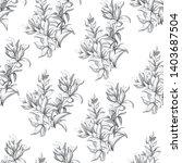 flower background. outline hand ...   Shutterstock .eps vector #1403687504
