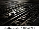 victorian printing press letters | Shutterstock . vector #140369725