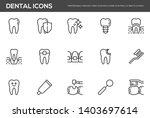 dental vector line icons set.... | Shutterstock .eps vector #1403697614