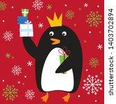 cute penguin design  christmas...   Shutterstock .eps vector #1403702894