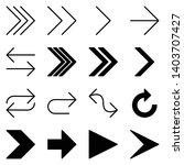 arrow icon set. vector logo... | Shutterstock .eps vector #1403707427