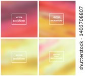abstract colorful blurred... | Shutterstock .eps vector #1403708807