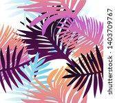 tropical botanical seamless...   Shutterstock .eps vector #1403709767