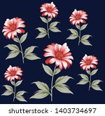 cute floral pattern in the... | Shutterstock .eps vector #1403734697