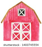 Watercolor Farm House...