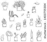 set of monochrome hand drawn...   Shutterstock .eps vector #1403755304
