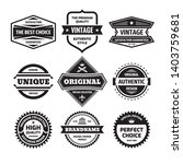 business badges vector set in... | Shutterstock .eps vector #1403759681