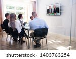 group of diverse businesspeople ... | Shutterstock . vector #1403763254