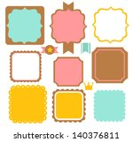 cute vintage border   vector... | Shutterstock .eps vector #140376811