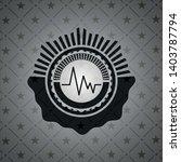 electrocardiogram icon inside... | Shutterstock .eps vector #1403787794