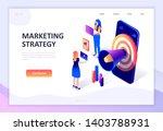 modern flat design isometric... | Shutterstock .eps vector #1403788931