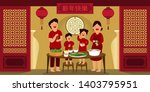 illustration vector flat... | Shutterstock .eps vector #1403795951
