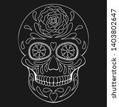 day of the dead skull with... | Shutterstock .eps vector #1403802647