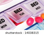 orange tablets on top of... | Shutterstock . vector #14038315