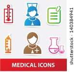 medical icons vector | Shutterstock .eps vector #140384941