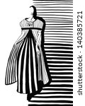 fashion of 20th century   woman ... | Shutterstock . vector #140385721