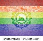 chicken dish icon on mosaic... | Shutterstock .eps vector #1403858804