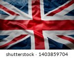 Closeup Of Union Jack English...