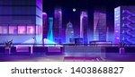 modern city megapolis at night. ... | Shutterstock .eps vector #1403868827