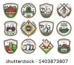 farmhouse agriculture and... | Shutterstock .eps vector #1403873807