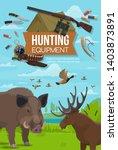 hunter sport adventure...   Shutterstock .eps vector #1403873891