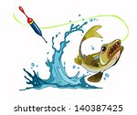 fish   to catch the bait and... | Shutterstock .eps vector #140387425