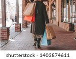 cut view of fashionable stylish ... | Shutterstock . vector #1403874611