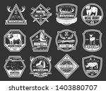 hunter club badges  hunting...   Shutterstock .eps vector #1403880707