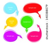multicolored speech bubbles... | Shutterstock .eps vector #140388079