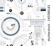 engineering draft seamless... | Shutterstock .eps vector #140388181